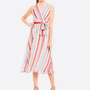 Leslie Fay // Colorful Tie Wrap Dress
